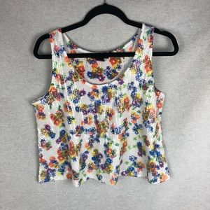 Sequin and floral tank by Material Girl